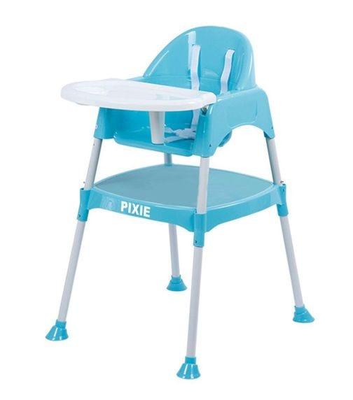 PIXIE Adjustable Plastic Feeding High Chair 8850 - Blue