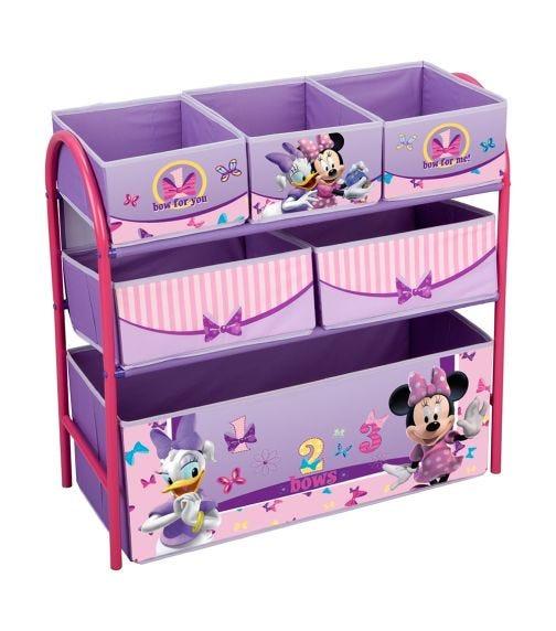 DELTA CHILDREN Minnie Mouse Multi Bin Toy Organizer