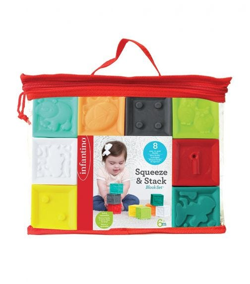 INFANTINO Squeeze Stack Block 8 Pieces