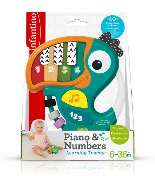INFANTINO Piano Numbers Learning Toucan
