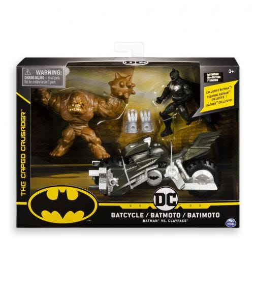 BATMAN DC Batcycle With Two 4 Inch Figurers