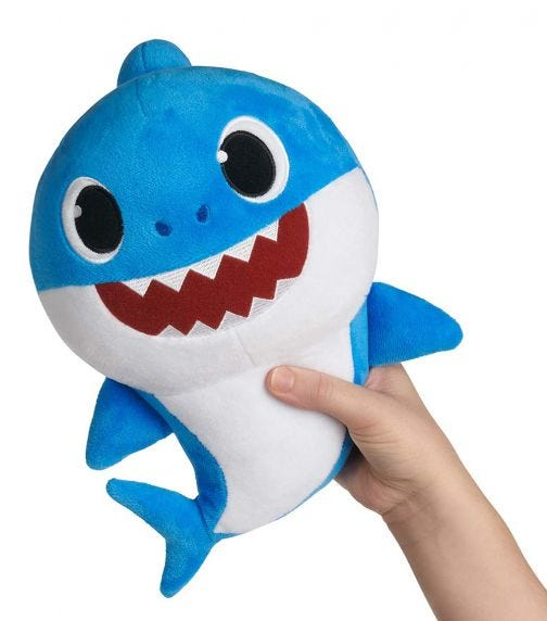 BABY SHARK Plush Doll With Sound 18 Inch - Daddy Shark