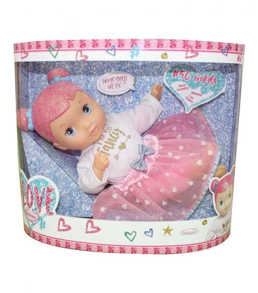 DIMIAN Soft Doll With Glitter Head & Accessories