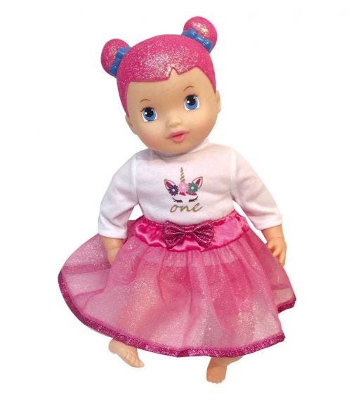 DIMIAN Love Pram Set 7 In 1 With 3Cm Doll No Sound With