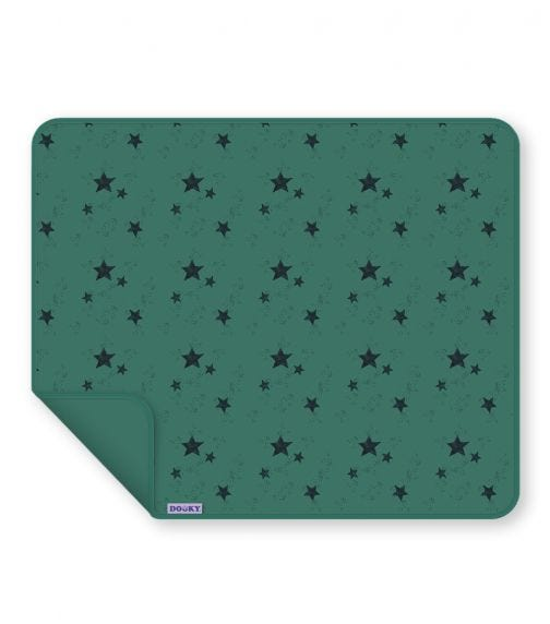 DOOKY Single Layer Blanket Single Layer - Green Star