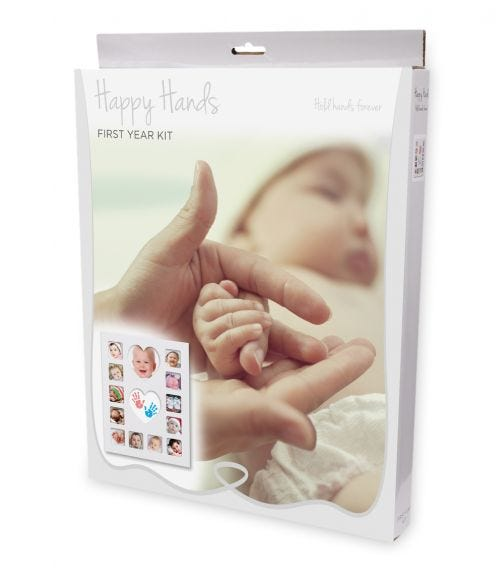 HAPPY HANDS Baby Inkless First Year Frame Kit (30x36cm)