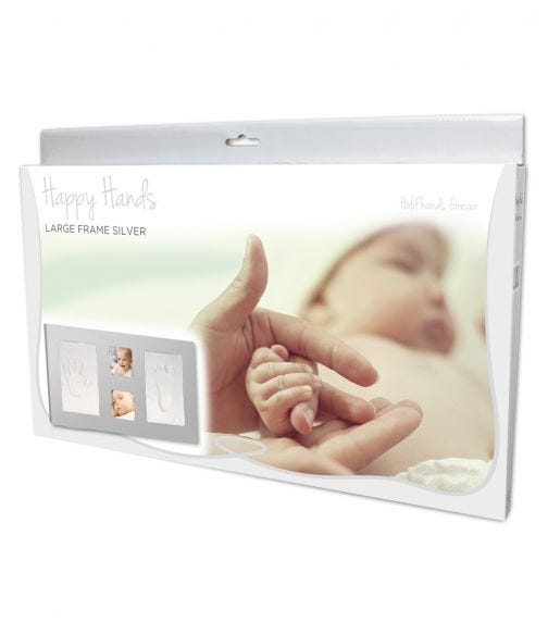 HAPPY HANDS Large Frame Silver (42X23cm)
