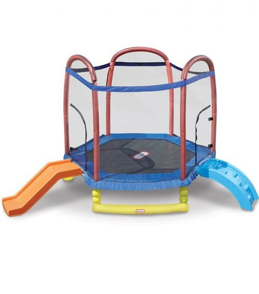 LITTLE TIKES Climb And Slide Trampoline With Ladder And Slide