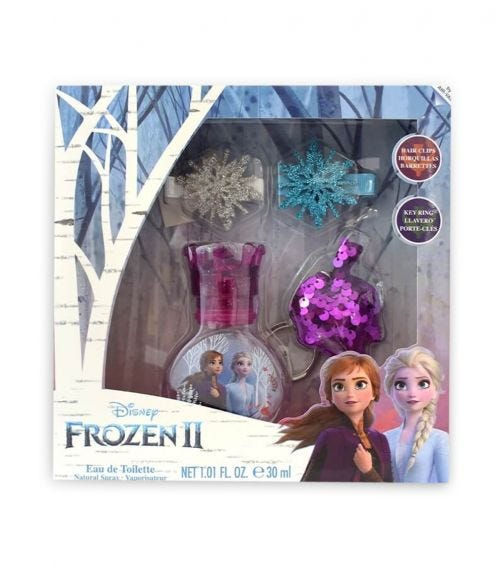 AIRVAL Frozen 2 Edt 30 ML + Hair Clips + Keyring + Stickers