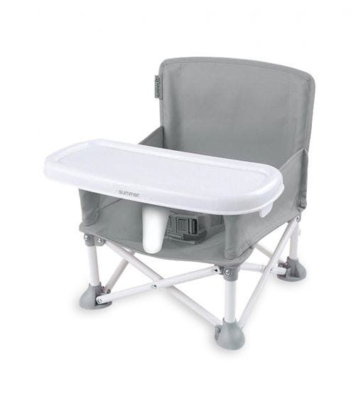 SUMMER INFANT Pop 'N Sit Portable Booster Grey