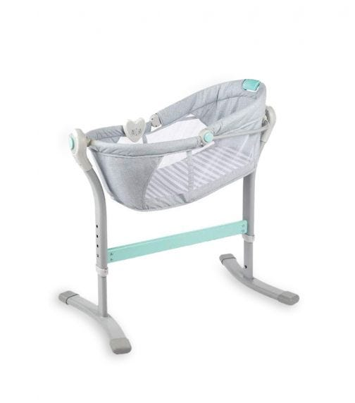 SUMMER INFANT By Your Bed Sleeper Teal & Grey Stripe