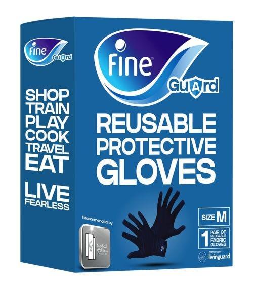 FINE GUARD Adult Gloves Livinguard, Infection Prevention -Size M