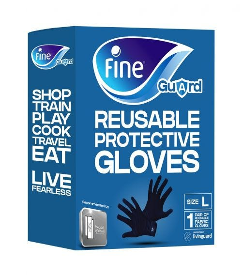 FINE GUARD Adult Gloves Livinguard, Infection Prevention -Size L