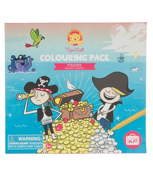 TIGER TRIBE Coloring Pack Pirates
