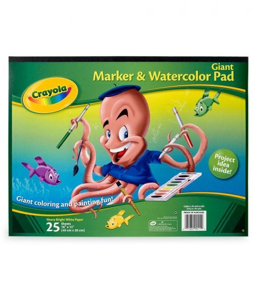CRAYOLA Giant Marker Watercolor Pad