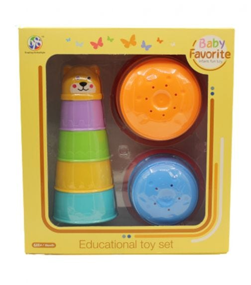 BABY FAVORITE Funny Cups Bath Toys - 9 Pieces
