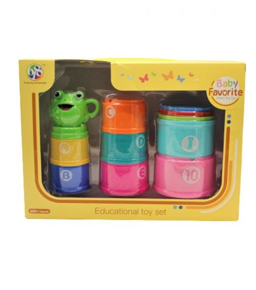 BABY FAVORITE Funny Cups Bath Toys  - 11 Pieces