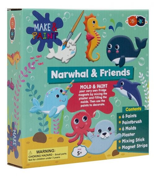 BUDDY & BARNEY Mold And Paint Narwhal And Friends