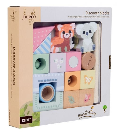 JOUECO The Wildies Family Discover Blocks