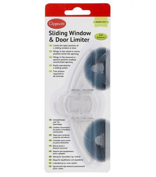 CLIPPASAFE Sliding Door & Window Limiter