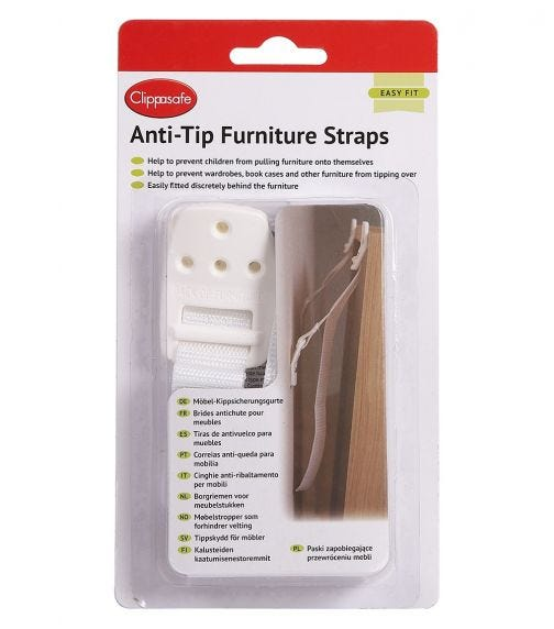 CLIPPASAFE Anti-Tip Furniture Straps
