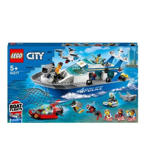 LEGO 60277 Police Patrol Boat Set