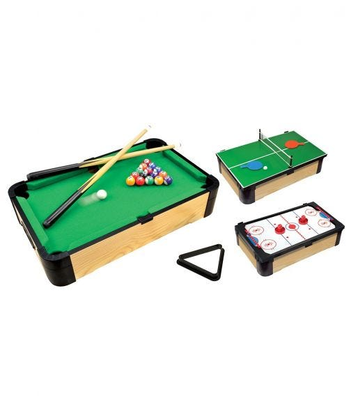 AMBASSADOR Triple Play Tabletop Pool (20 inches/50 cm)