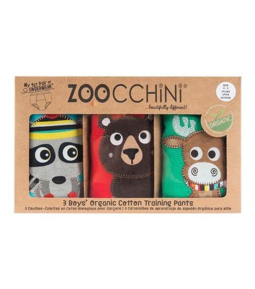 ZOOCCHINI Organic Cotton Training Pants Set Of 3 For Boys