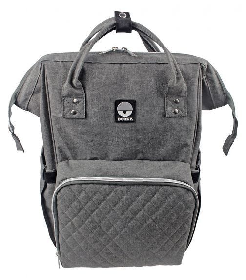 DOOKY Diaper Backpack Large - Grey Melange