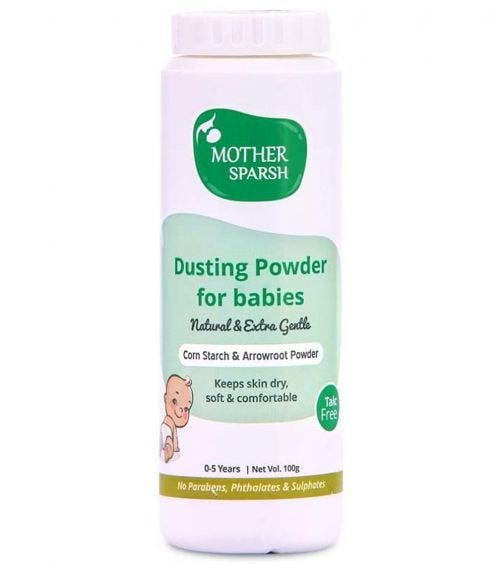 MOTHER SPARSH Talc-Free Tural Dusting Powder For Babies, 100 G