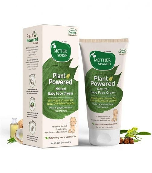 MOTHER SPARSH Plant Powered Tural Baby Lotion, 200 ML