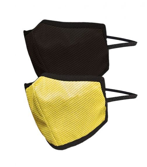SWAYAM Reusable 4-Layer Outdoor Protective Face Mask - Pack Of 2 (Dark Brown/Yellow)