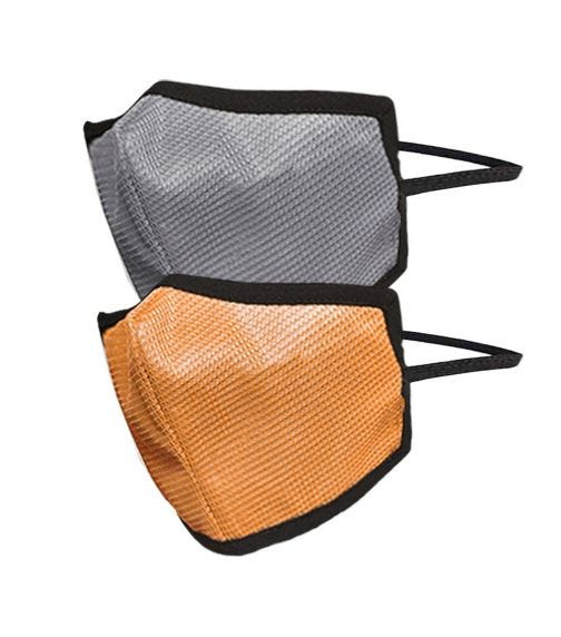 SWAYAM Reusable 4-Layer Outdoor Protective Face Mask - Pack Of 2 (Gray/Orange)