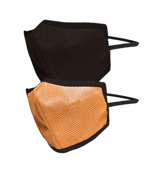 SWAYAM Reusable 4-Layer Outdoor Protective Face Mask - Pack Of 2 (Dark Brown/Orange)