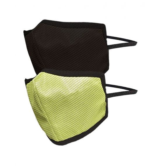 SWAYAM Reusable 4-Layer Outdoor Protective Face Mask - Pack Of 2 (Dark Brown/Green)