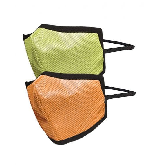 SWAYAM Reusable 4-Layer Outdoor Protective Face Mask - Pack Of 2 (Green/Orange)