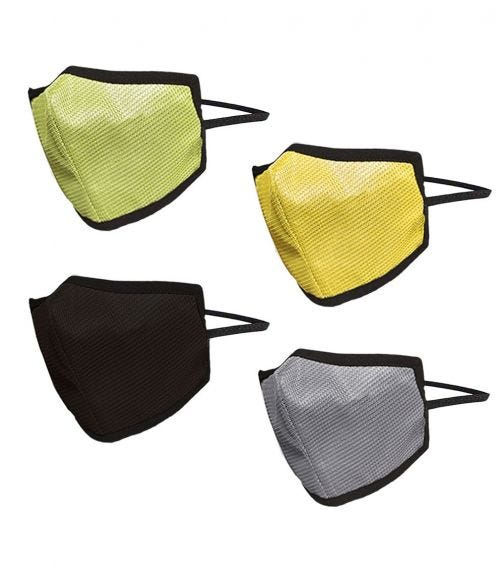 SWAYAM Reusable 4-Layer Outdoor Protective Face Mask - Pack Of 4 (Green/Brown/Yellow/Gray)