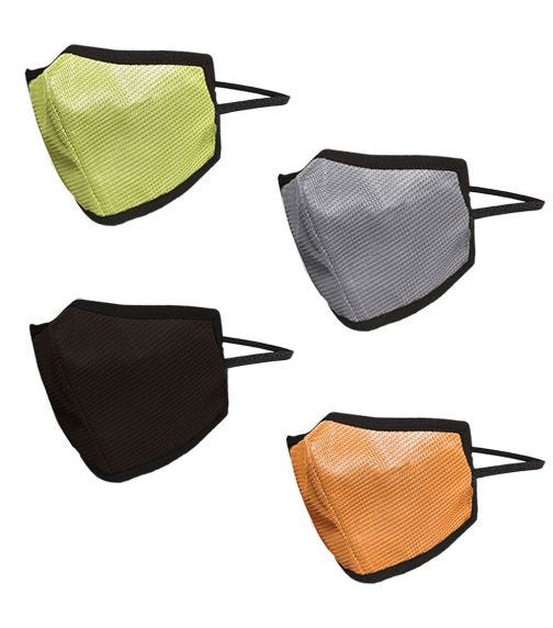 SWAYAM Reusable 4-Layer Outdoor Protective Face Mask - Pack Of 4 (Green/Brown/Orange/Gray)
