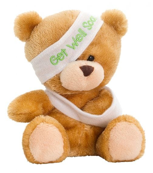 KEEL TOYS UK 14 cm Pipp The Bear Get Well Soon Soft Toy