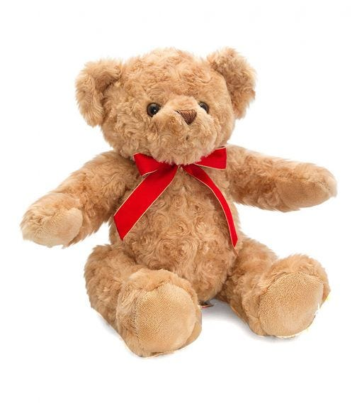 KEEL TOYS UK 20 cm Traditional Bear With Ribbon Soft Toy