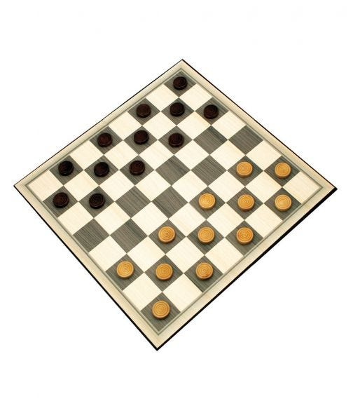 AMBASSADOR Classic Games Collection Wood Checkers