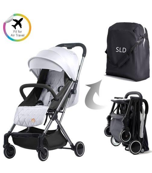 TEKNUM Grey Travel Lite Stroller + Sunveno Diaper