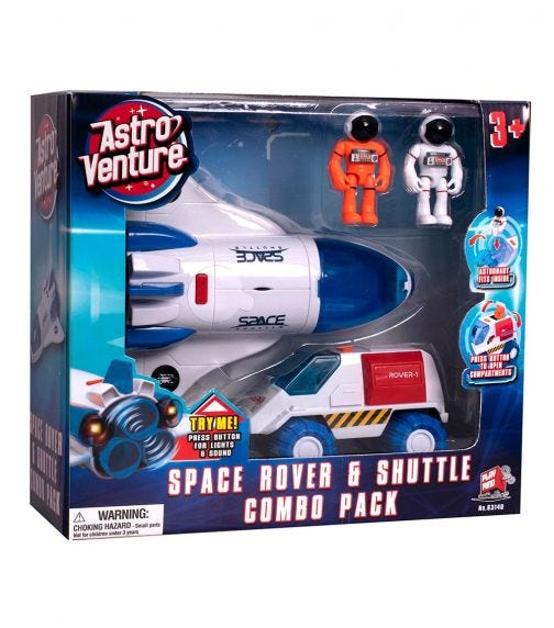 ASTRO VENTURE Space Rover And Shuttle Combo Set