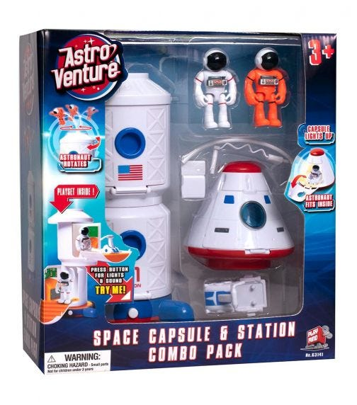 ASTRO VENTURE Space Capsule And Station Combo Set