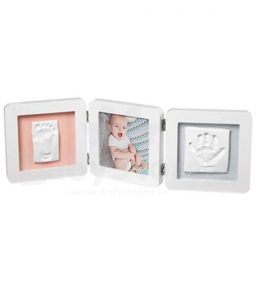 BABY ART My Baby Touch Double Print Frame - White