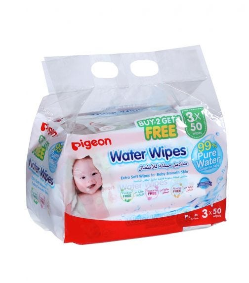 PIGEON Water Wipes 50 Sheets  (2+1 Free)