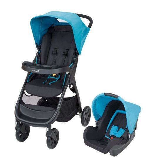 SAFETY 1st Amble 2 In 1 Travel System Stroller Blue Lake