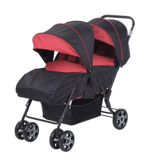 SAFETY 1st Tandem Teamy Stroller Ribbon Red Chic