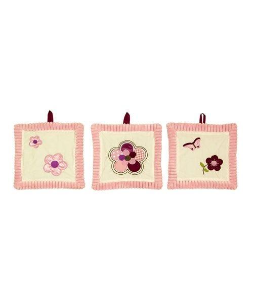 BABYHOOD Amani Bebe Raspberry Garden 3 Piece Wall Hanging