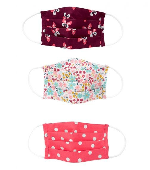 CARTER'S Cloth Face Mask - 3 Pack A